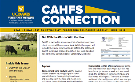 CAHFS Connection - California Animal Health and Food Safety Laboratory System