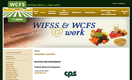 WIFSS & WCFS @ Work - Western Institute for Food Safety & Security