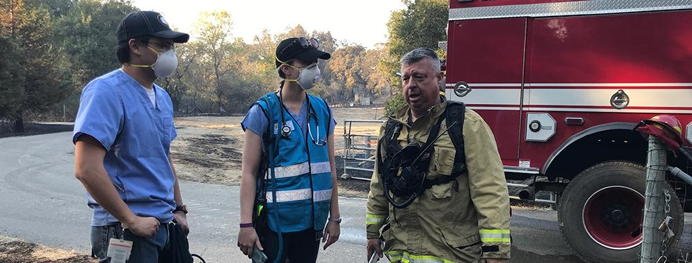 UC Davis Veterinary Emergency Response Team Students Assist Firefighters on Search and Rescue Missions during the Kincade Fire in Sonoma County