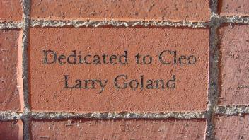 Dedicated to Cleo. Larry Goland