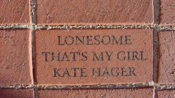 Lonesome, that's my girl. Katie Hager