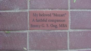 "My beloved ""Mozart"" A faithful companion Jimmy G. S. Ong, MBA"