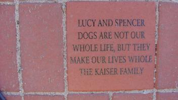 Lucy and Spencer Dogs are not ou whole life, but they make our lives whole. The Kaiser Family