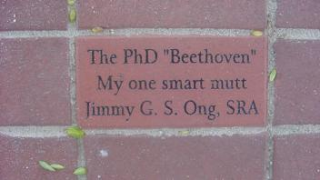 "The Ph.D. ""Beethoven"" My one smart mutt, Jimmy G.S. Ong, SRA"