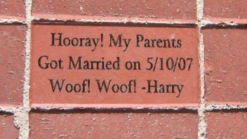 Hooray! My parents got married on 5/10/07 Woof! Woof! -Harry