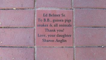 Ed Belmer Sr. To B.B., guinea pigs, snakes & all animals. Thank you! Love, your daughter Sharon Anglin