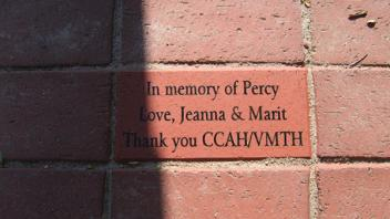 In memory of Percy Love, Jeanna & Marit, Thank you CCAH/VMTH
