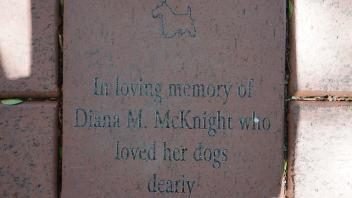In loving memory of Diana M. McKnight who loved her dogs dearly