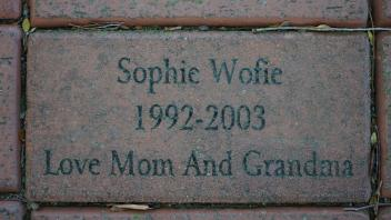 Sophie Wofie 1992-2003 Love Mom and Grandma