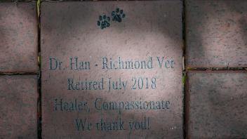 Dr. Han - Richmond Vet Retired July 2018 Healer, Compassionate We thank you!