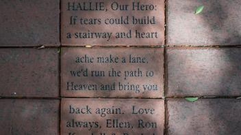 HALLIE, Our Hero: If tears could build  a stairway and heart