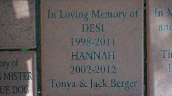 In Loving Memory of DESI 1998-2011 HANNAH 2002-2012 Tonya & Jack Berger