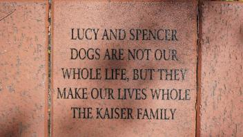 LUCY AND SPENCER DOGS ARE NOT OUR WHOLE LIFE , BUT THEY  MAKE OUR LIVES  WHOLE THE KAISER FAMILY
