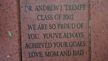 DR. ANDREW J. TREMPE CLASS OF 2002 WE ARE SO PROUD OF YOU.  YOU'VE ALWAYS ACHIEVED YOUR GOALS. LOVE, MOM AND DAD