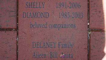 SHELLY  1991-2006 DIAMOND  1985-2003 beloved companions  DELANEY Family Aileen  Bill  Anita