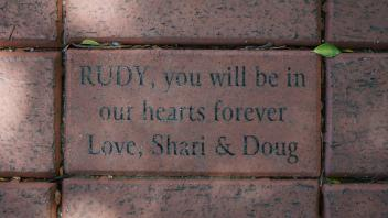 RUDY, you will be in our hearts forever Love, Shari & Doug