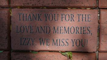 THANK YOU FOR THE LOVE AND MEMORIES IZZY. WE MISS YOU