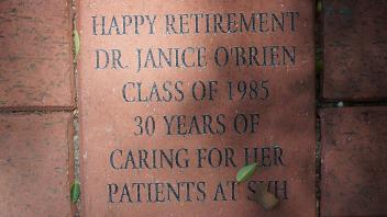 HAPPY RETIREMENT DR. JANICE O'BRIEN CLASS OF 1985 30 years of caring for her patients at SVH