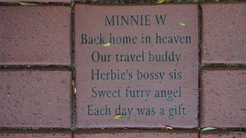 MINNIE W Back home in heaven Our travel buddy Herbie's bossy sis Sweet furry angel Each day was a gift