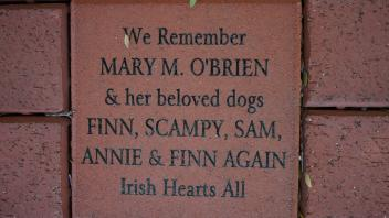 We Remember MARY M. O'BRIEN & her beloved dogs FINN, SCAMPY, SAM,  ANNIE & FINN AGAIN Irish Hearts All