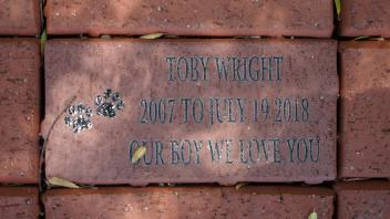 TOBY WRIGHT 2007 TO JULY 19 2018 OUR BOY WE LOVE YOU