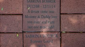 SABRINA BOHRER 12/12/08 - 12/11/14 A dream come true Mommy & Daddy love you more and want just one more ride!