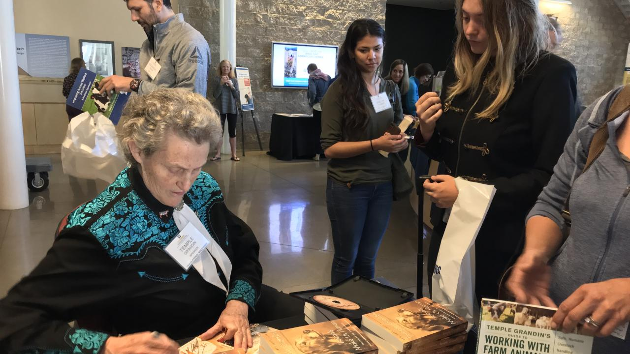 Dr  Temple Grandin Visits Vet Med | School of Veterinary Medicine