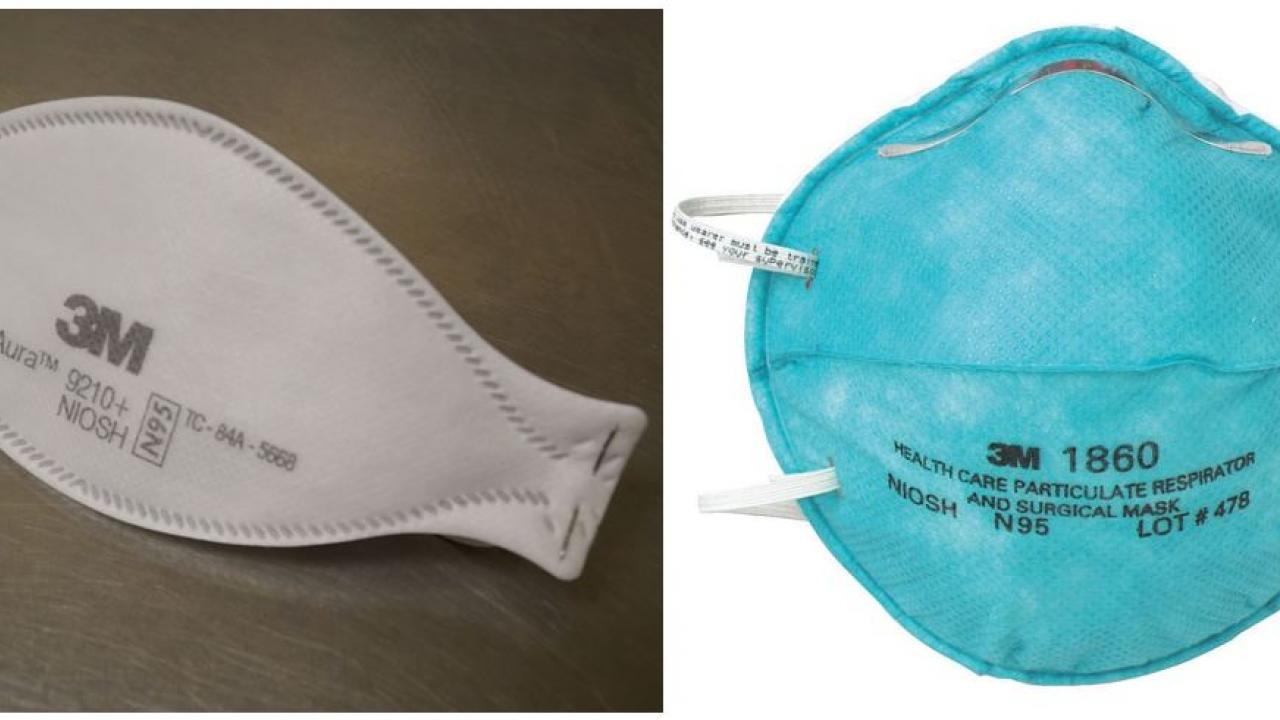 The UC Davis School of Veterinary Medicine donated 6,000 N95 respirators, such as these, to UC Davis Health.