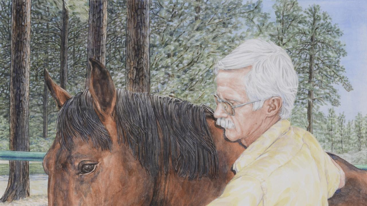 Portrait of Dr. Paul Miller, remembered for his dedicated care of horses
