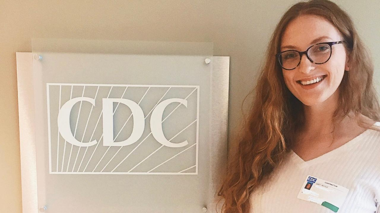 Student Nicole Cady at the CDC
