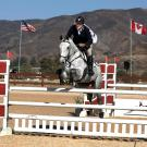 Fred in action at a three-day eventing competition.