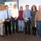 2018 Retirees (l to rt): David Wilson, Peter Pascoe, Chuck Mohr, Cary Craig, Jim MacLachlan, Fern Tablin, Peter Moore