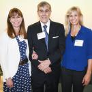 Dr. Carrie Finno on left with Dr. Greg Ferraro (center) and Dr. Claudia Sonder