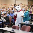person in polar bear costume