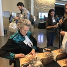 Temple Grandin signed books after her talk.