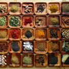 trays of spices