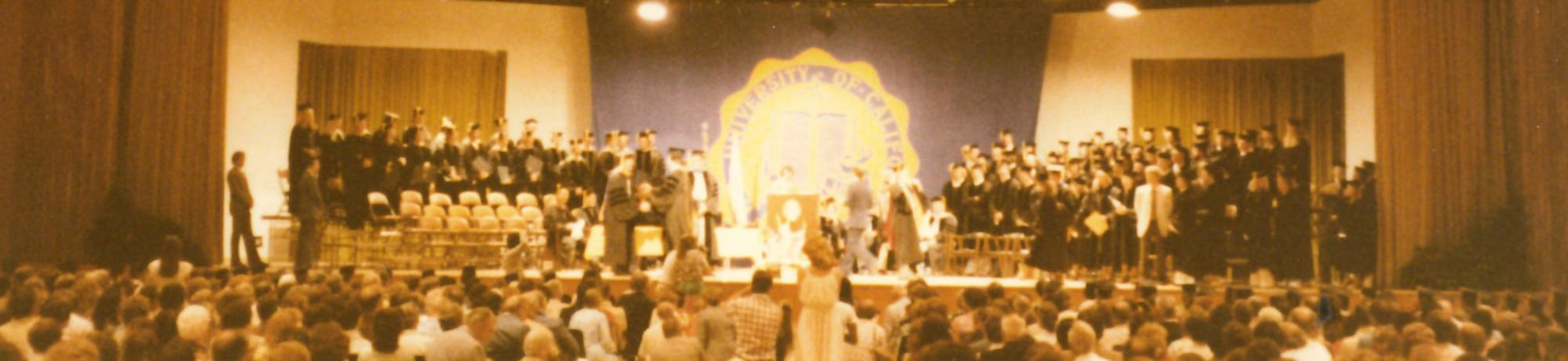 1979 graduation at Freeborn Hall